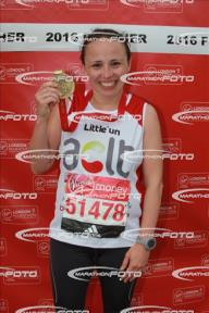 Abby with medal